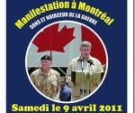 Manifestation à Montréal