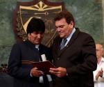 Evo Morales se voit remettre le titre de Docteur Honoris Causa de l'Université de La Havane